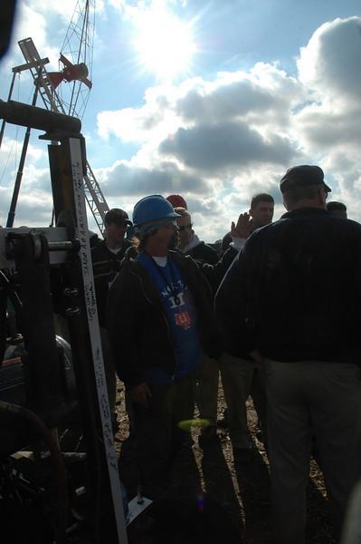 Greg explaining the machine to the Navy guys