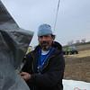 Greg taking off the tarp for PR1