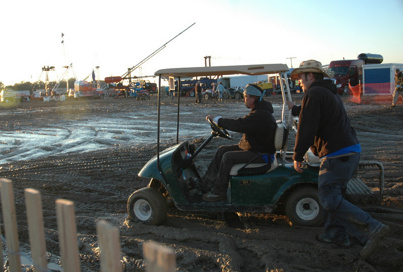 the golf carts where nice to have this year, but it kept getting stuck in the mud