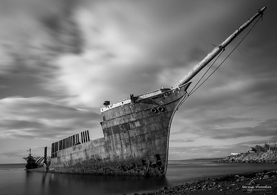 The rusty hull of the Lord Lonsdale in Punta Arenas, Chile.