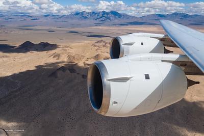Instrument test flight over the Mojave Desert.