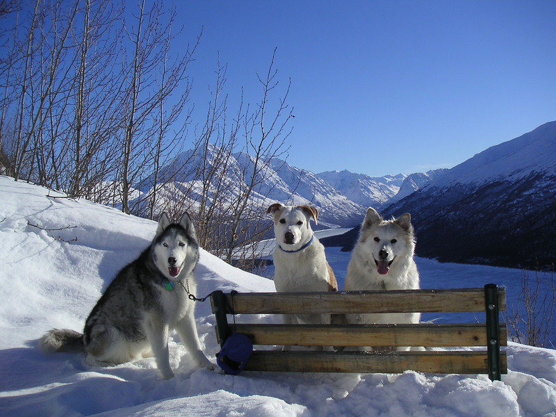 The Trio at Eklutna Lake