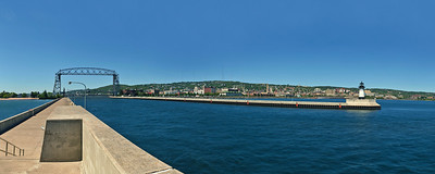 "Duluth Aerial Lift Bridge and Twin Piers - ""Gem of Inland Seas"""
