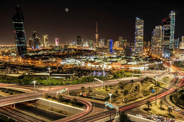 Kuwait Liberation tower - night view