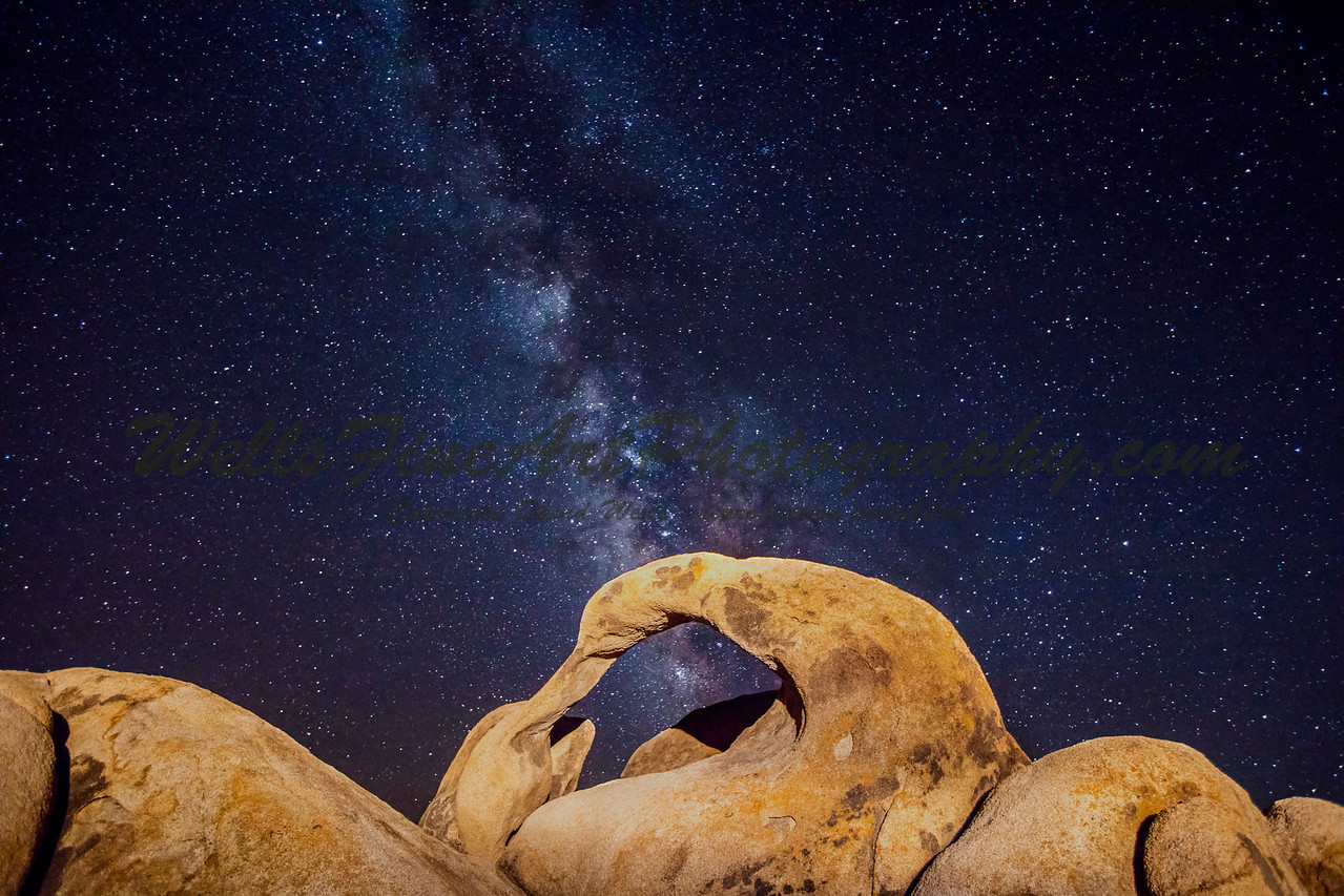 Milky Way over Mobius Arch, Alabama Hills, CA