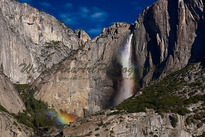 Rainbows in  Mist, Upper Yosemite Falls