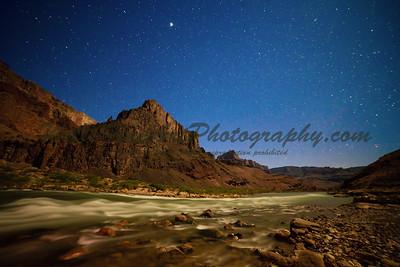 Lava Chuar Falls by Moonlight, Grand Canyon