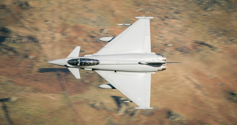 A stunning knife edge pass from the Typhoon