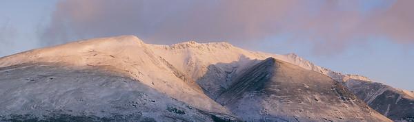 Snow Capped Blencathra Mountain