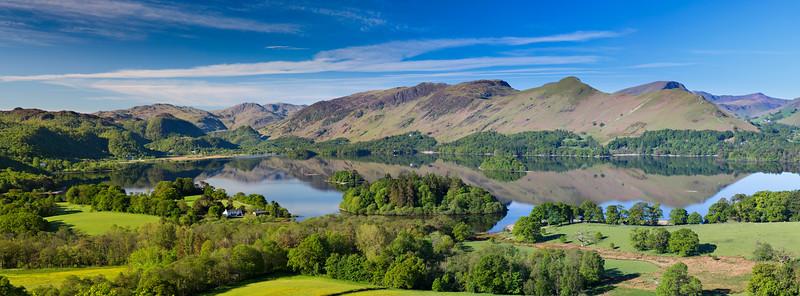 Derwent Water Summer Panoramic Photograph