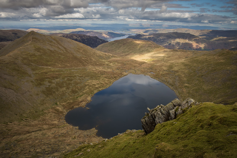 Helvellyn and Red Tarn