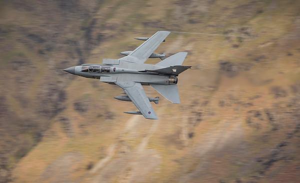Tornado GR4 cruising at low level