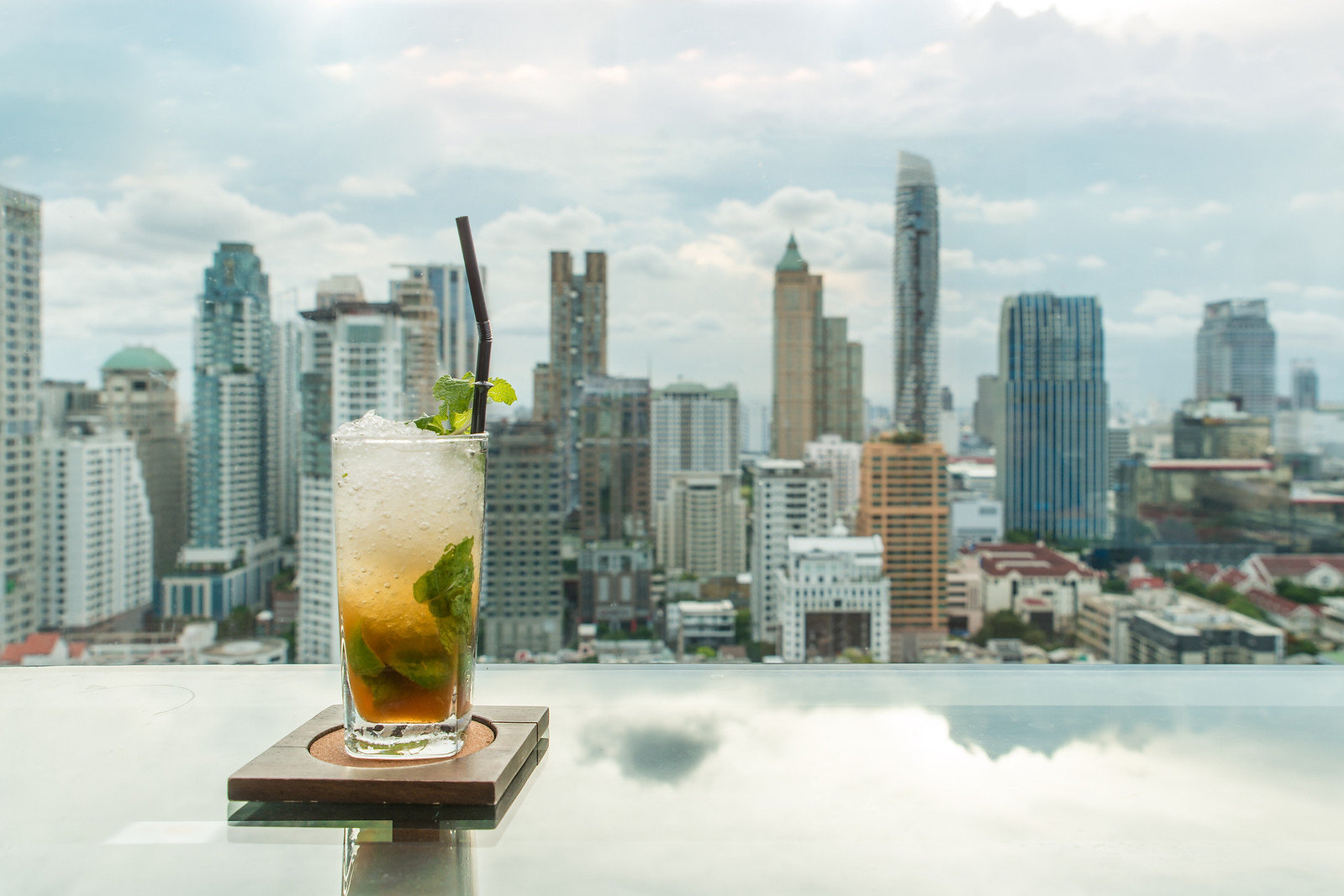 Rooftop drinks in Bangkok