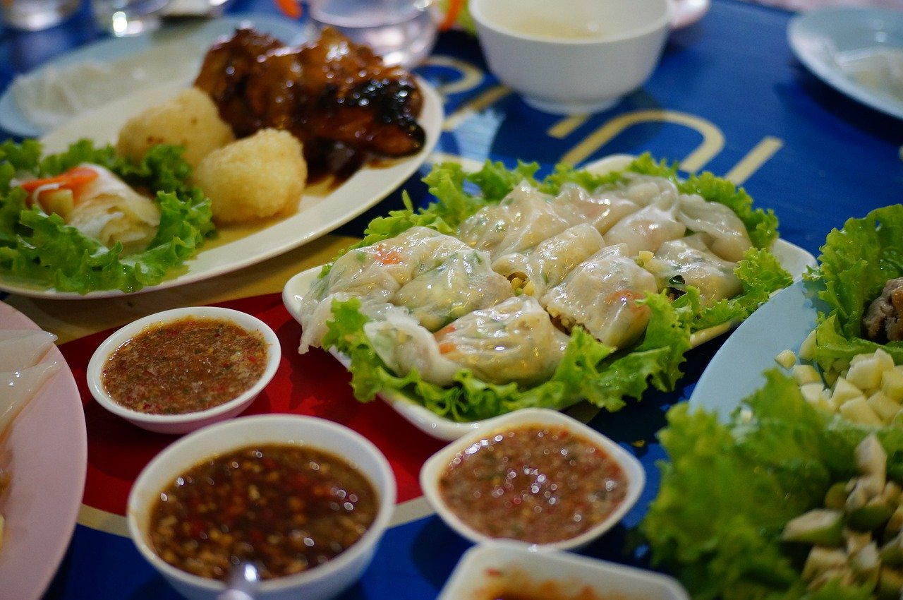 Vietnamese food selection