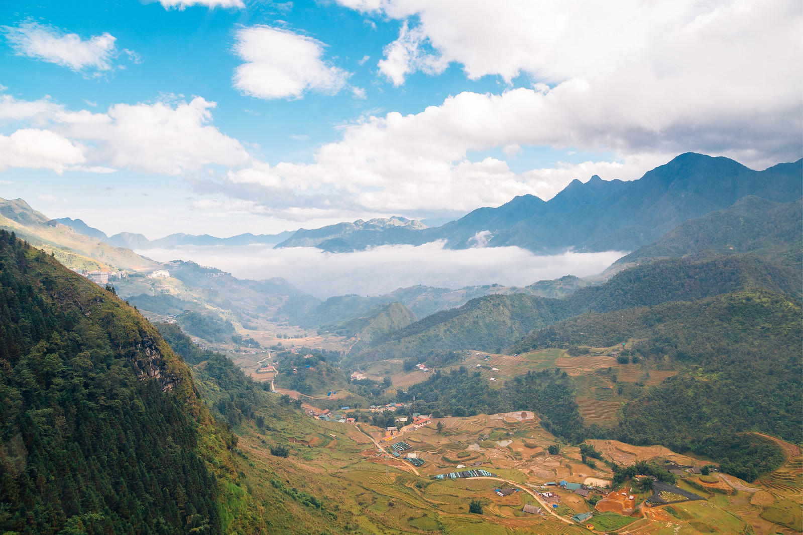 View from the Fansipan mountain in Sapa