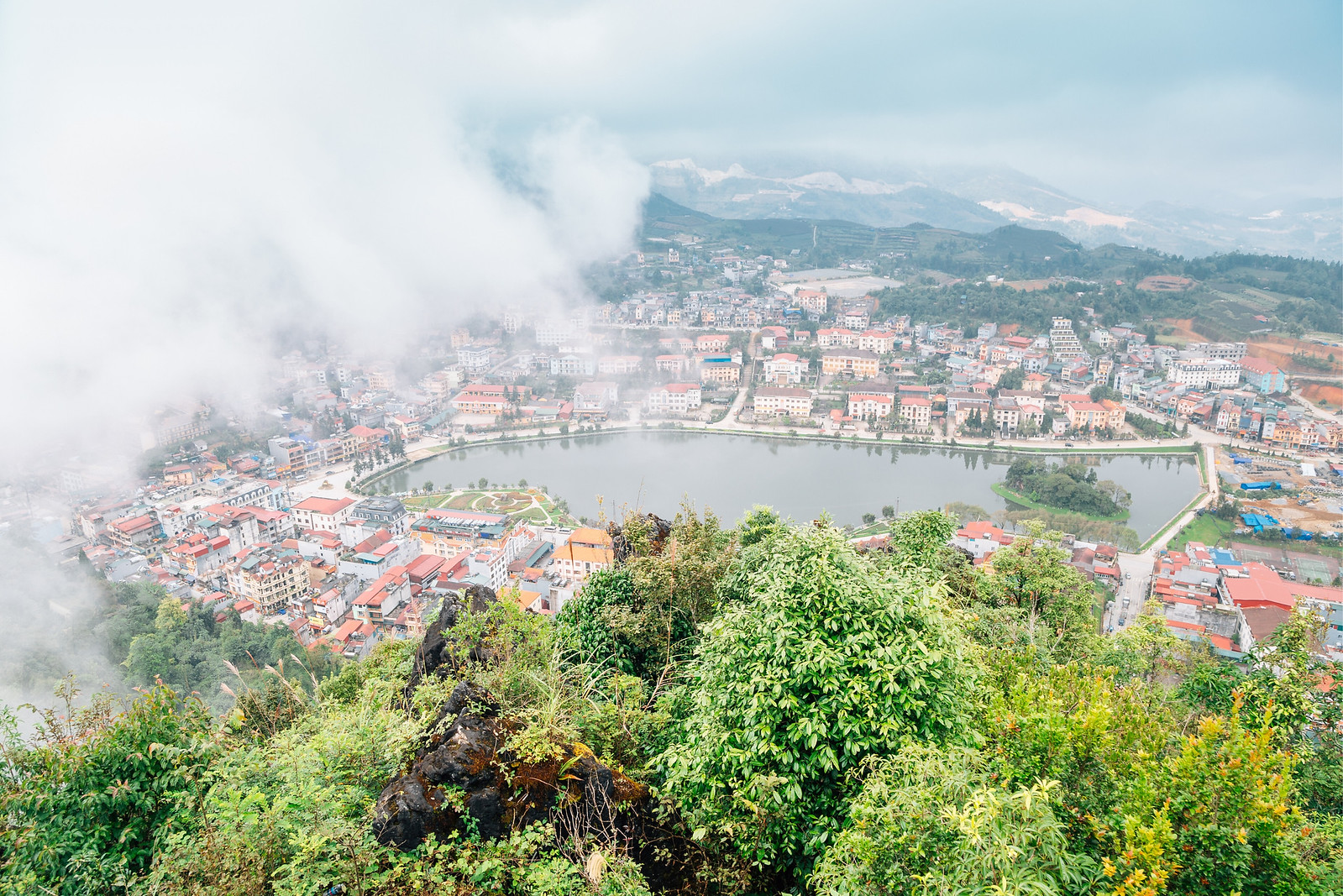 View from Ham Rong Mountain in Sapa