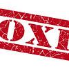 Toxic red grunge stamp