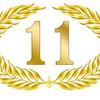 jubiläum 11 button lorbeer schleife geburtstag gold