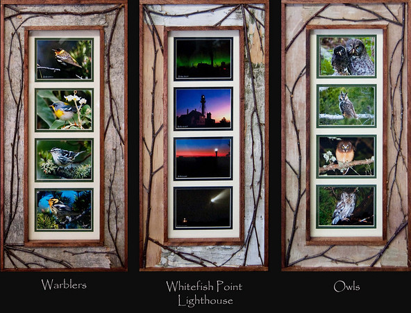 "<font size=""3""> Custom Frames  We offer several custom frames that can be puchased with a variety of our prints. To the left and below is a sample of 4-window frames. We can also make the the style to the right as 3-window frames."