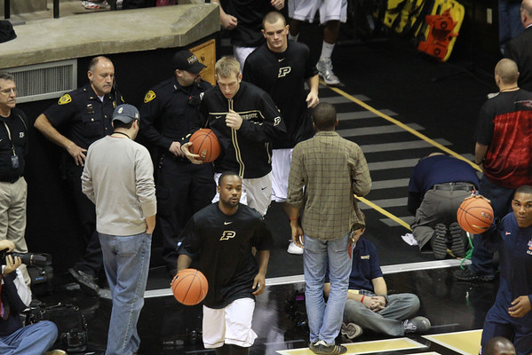 Purdue 1st half Men's B-ball vs Illinois 12-31-11