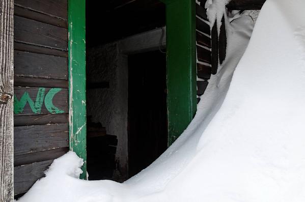 Toilet door, Leobnerhütte