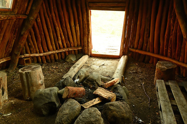 Sami dwelling, reconstructed