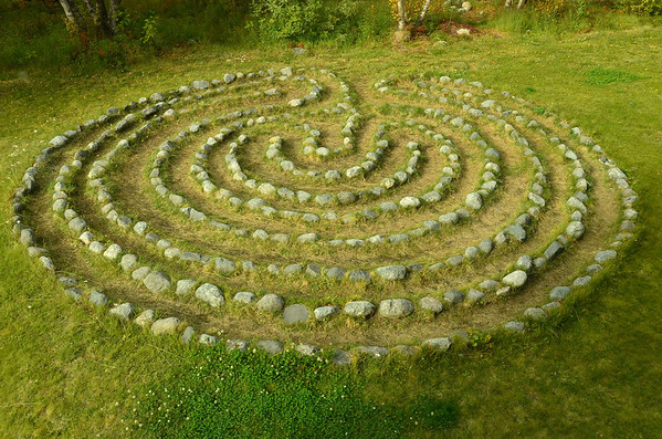 Labyrinth, reconstruction of Holmengraa