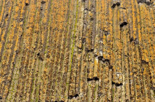 Rubini Rock basalt column patterns