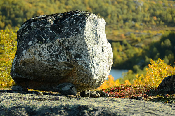 Ice age dropped this boulder on three resting points