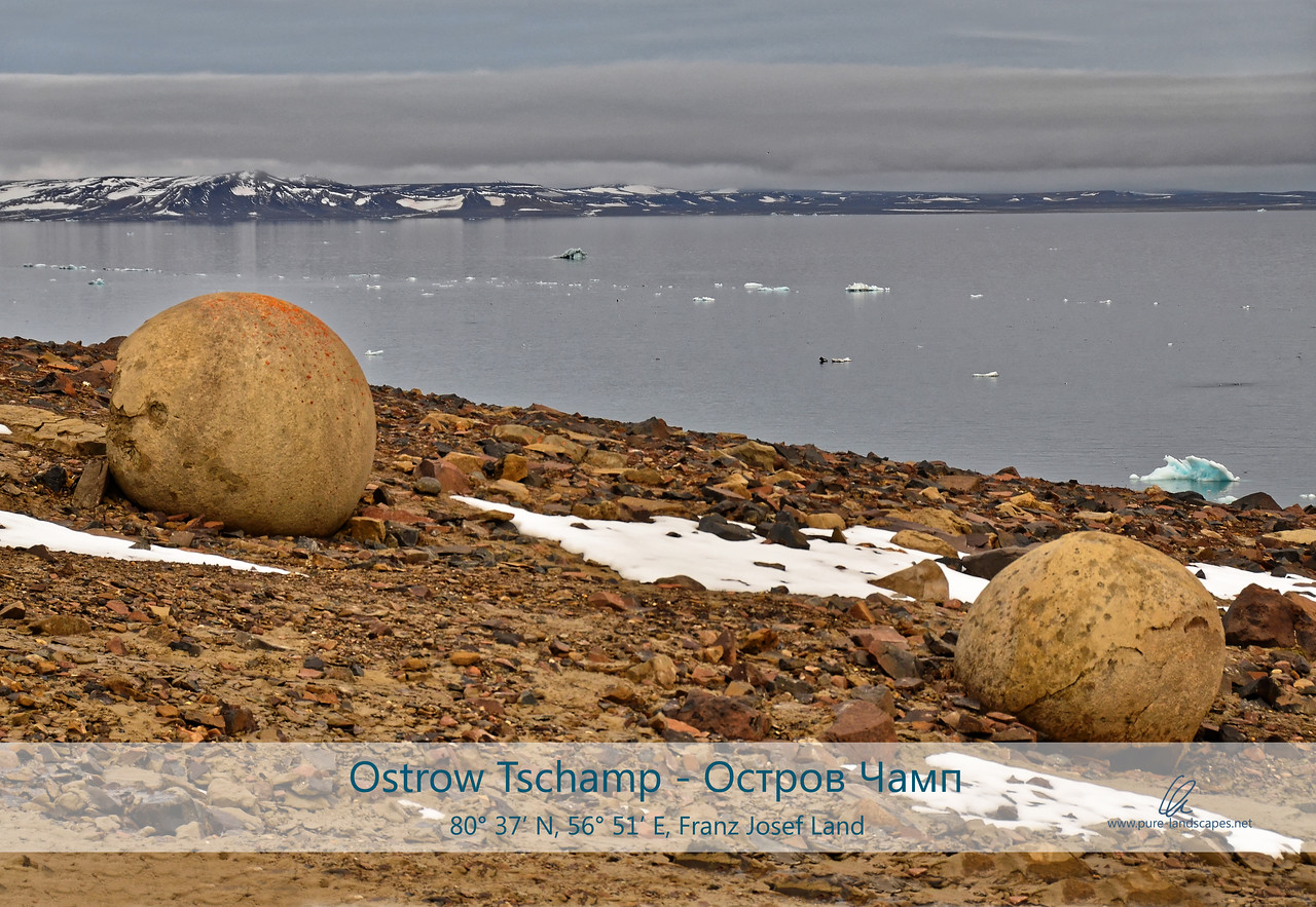 Geospheres on Champ Island
