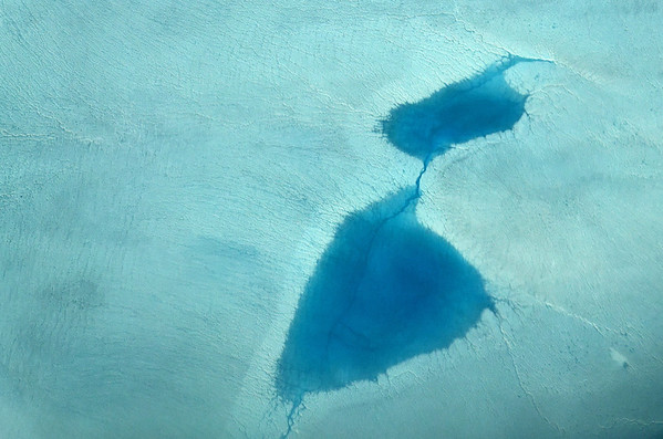 W-coast of Greenland, Inland ice, meltwater lakes and channels