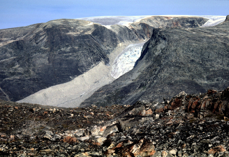 Retreating glacier in the interior of Nuqssuaq