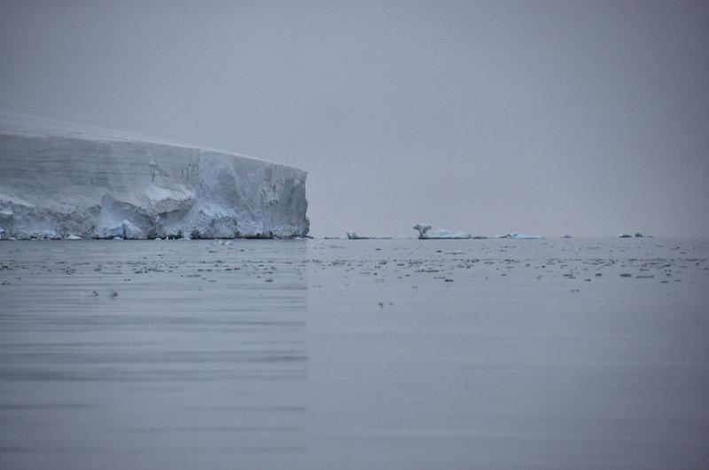 Ice vertical shadows, NE coast of Cape Flora Island