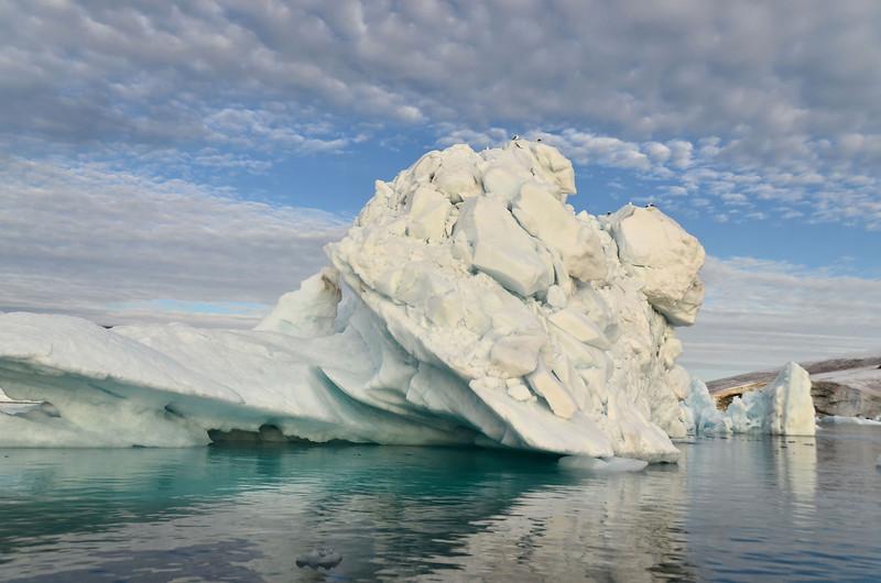Iceberg turned over, Ziegler Island