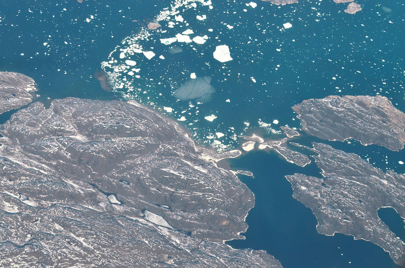 Spring sea ice conditions, West Greenland coast south of Upernavik, June