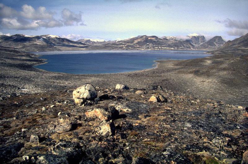 Nameless lake in the interior of Nuqssuaq