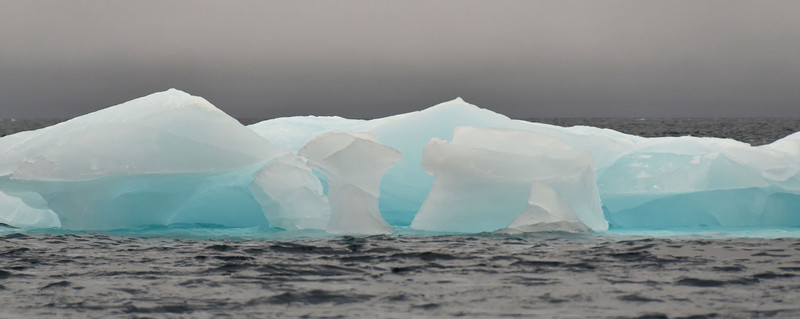 Glacier ice floe, north of Cape Fligely
