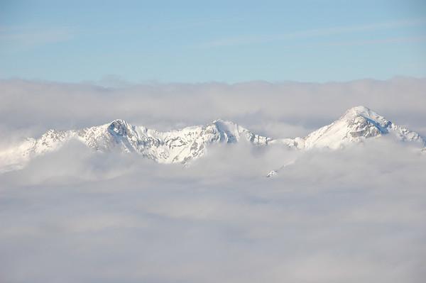 Winter fog layer, Totes Gebirge
