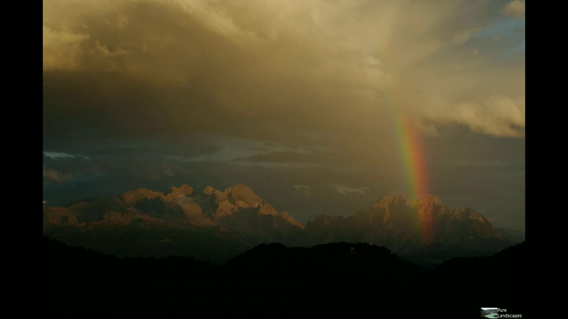 Rainbow Sunset over Mt. Dachstein, Austria