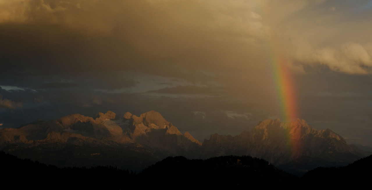Rainbow Sunset over Mt. Dachstein