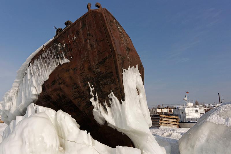Kuzhir harbour - winter life in a Wild East Siberian village