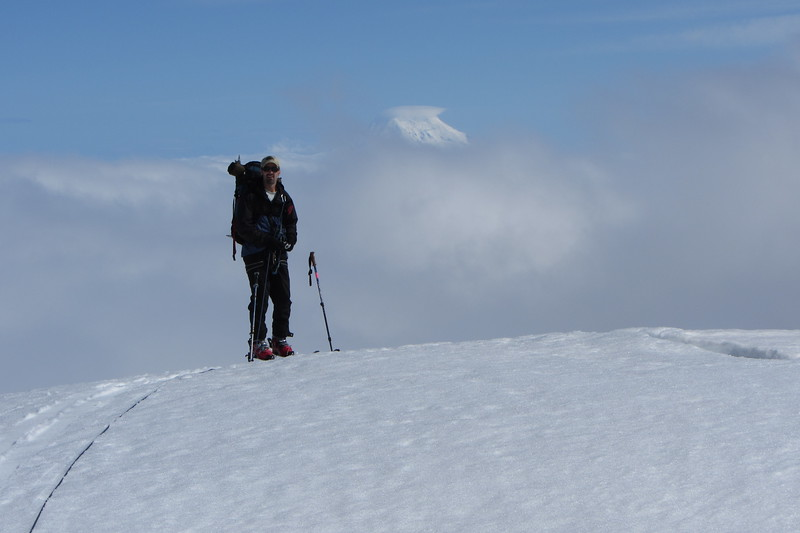 We then got a great view of nearby Mount Adams (ca. 12,200'), complete with lenticular cloud shrouding its summit