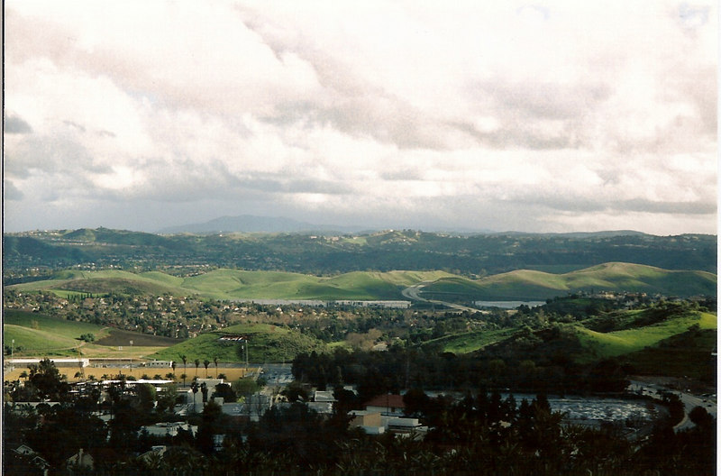 This is a view of the San Gabriel Valley in late winter, taken from a friend's house in Walnut, CA.