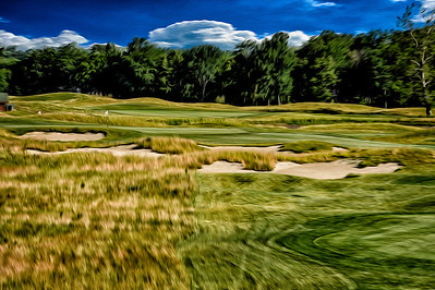 Tall grass surrounding the first tee makes for lovely textures.