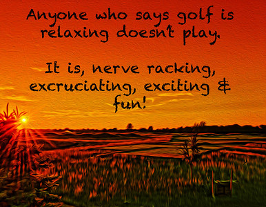 Sunrise over the 1st tee at Purgatory Golf Club, with a quote inspired by this weeks U.S.Kids World Golf Championship.