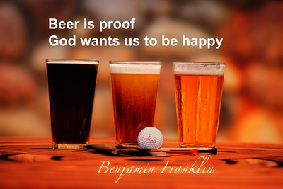 Beer is proof that God wants us to be happy!