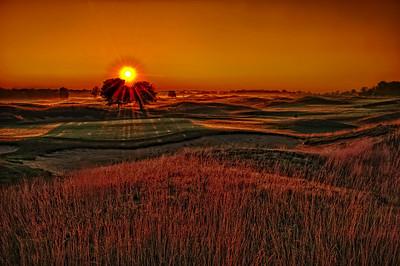 Sunrise over the 17th hole.