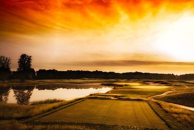 Sunrise over the 7th hole.