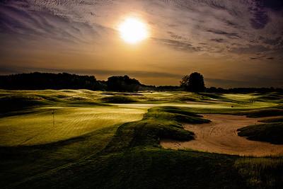 Sunrise over the 8th hole.