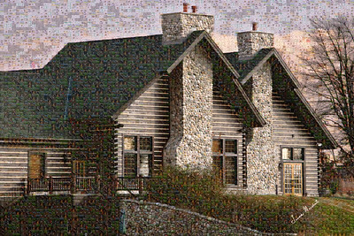 This is a mosaic made of smaller pictures to create this overall image.